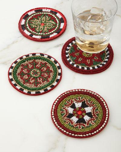 Festivity Beaded Coasters, Set of 4