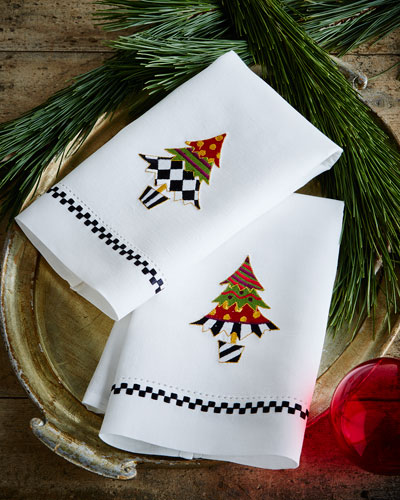Holiday Trees Guest Towels, 2-Piece Set