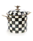 MacKenzie-Childs Courtly Check Enamel 7-Quart Stock Pot