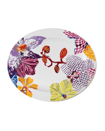 Flowers Oval Platter