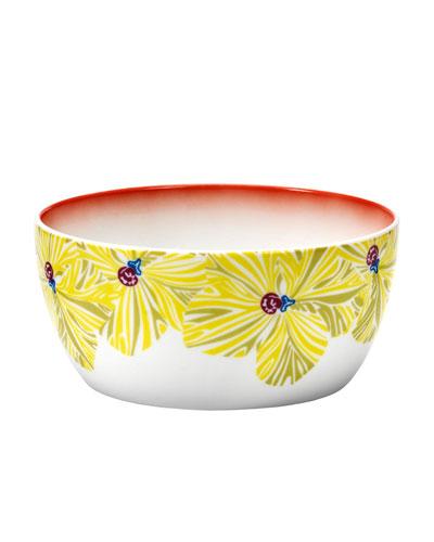 Flowers Large Fruit Bowl