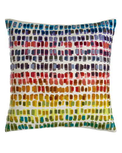 Paint Chip Embroidered Pillow, 20