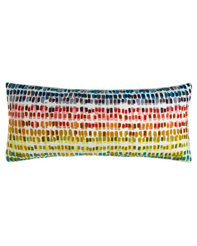 Paint Chip Embroidered Pillow, 15