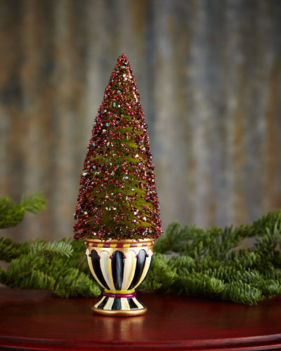 Small Sugarplum Bottlebrush Christmas Tree