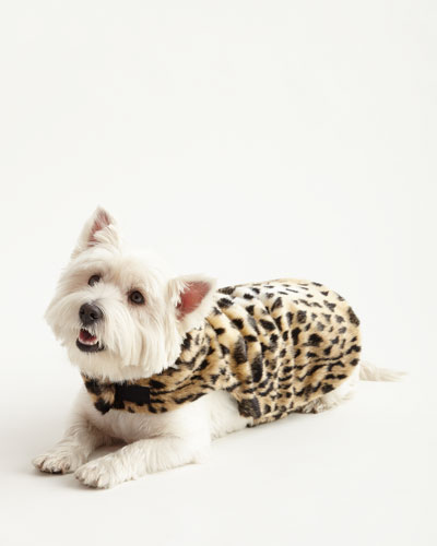 Small Faux-Leopard Dog Coat