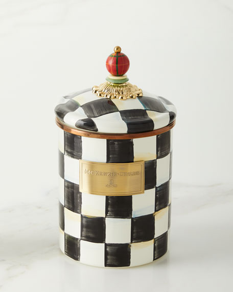 MacKenzie-Childs Courtly Check Medium Canister