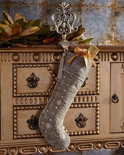 Silver-Tissue Christmas Stocking