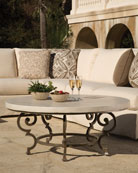 Hemingway Outdoor Florentine Round Coffee Table