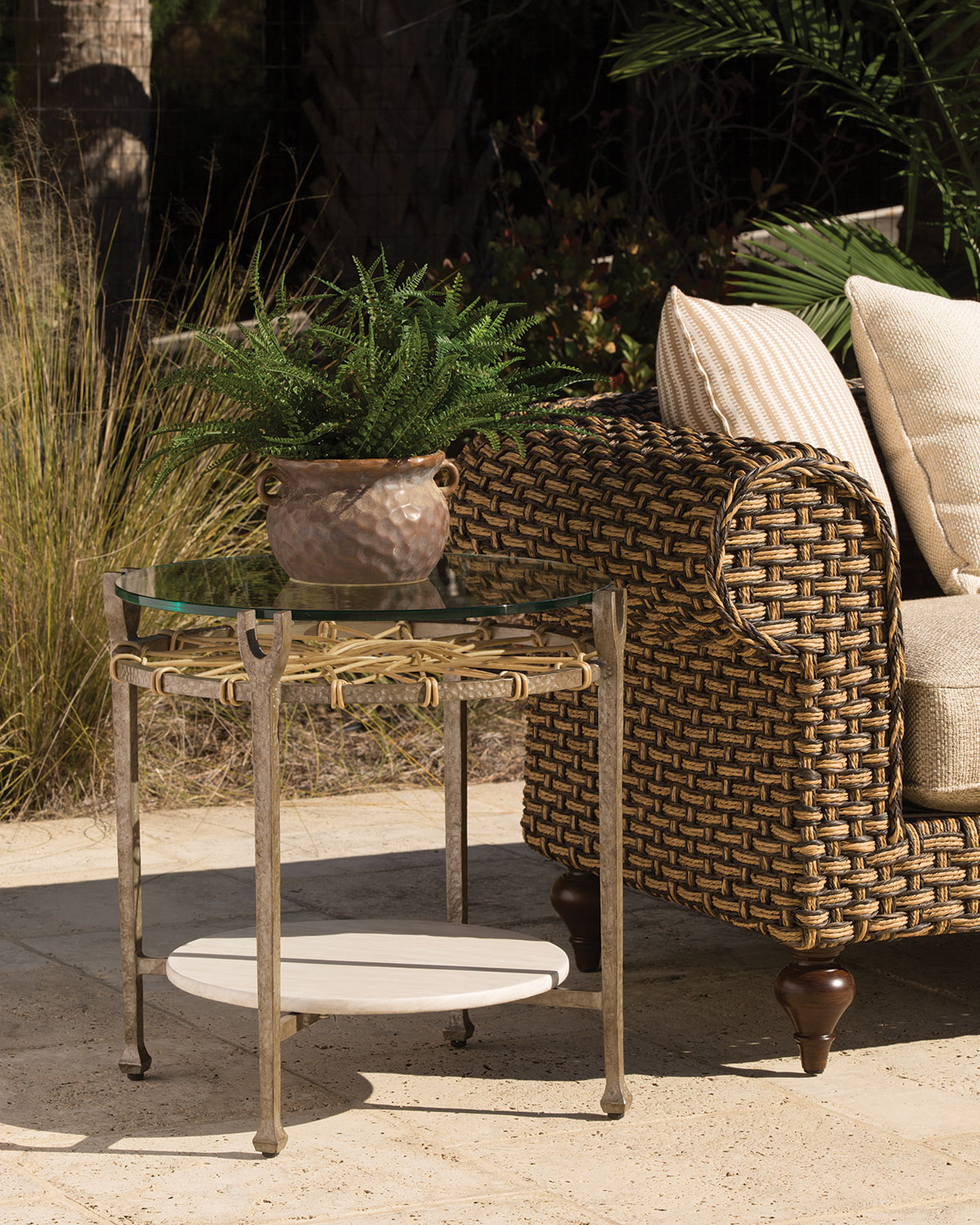 Hemingway Outdoor Round Accent Table