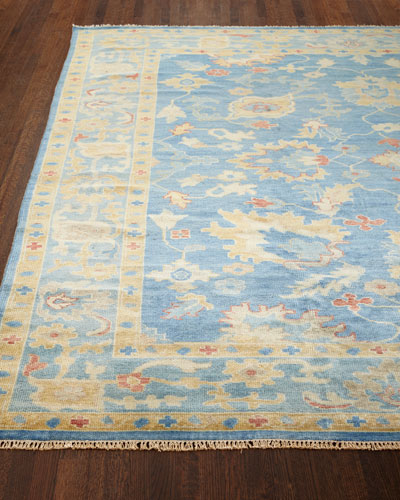 Ribbon Blue Rug, 5'6
