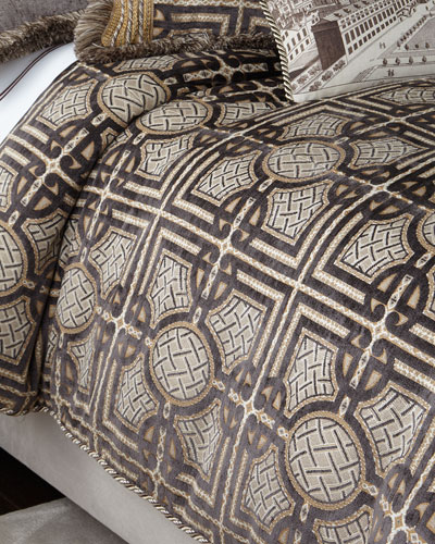 King Argent Geometric Duvet Cover