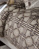 Queen Argent Geometric Duvet Cover