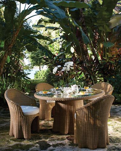 Hemingway Outdoor Florentine Rectangular Dining Table