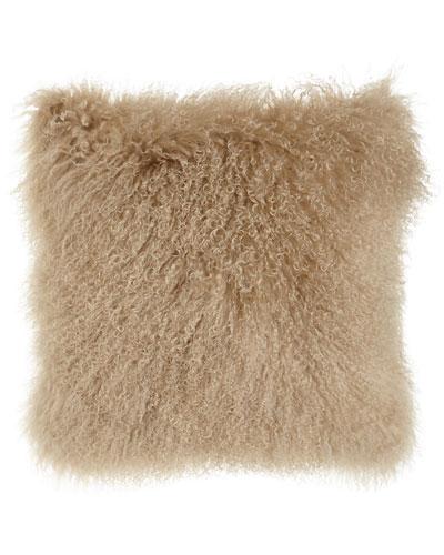 Camel Tibetan Lamb Pillow