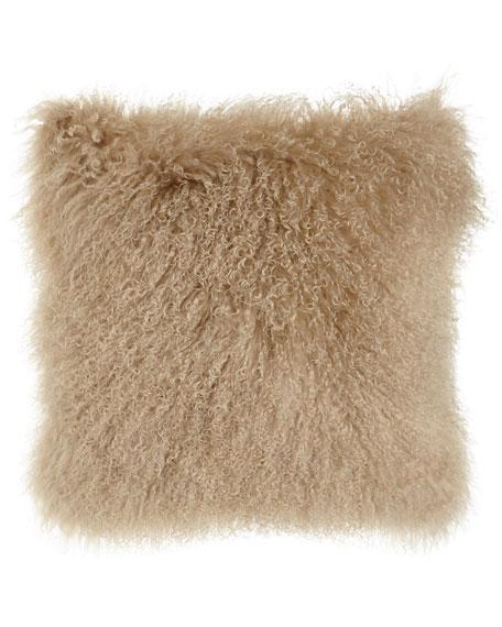Massoud Camel Tibetan Lamb Pillow