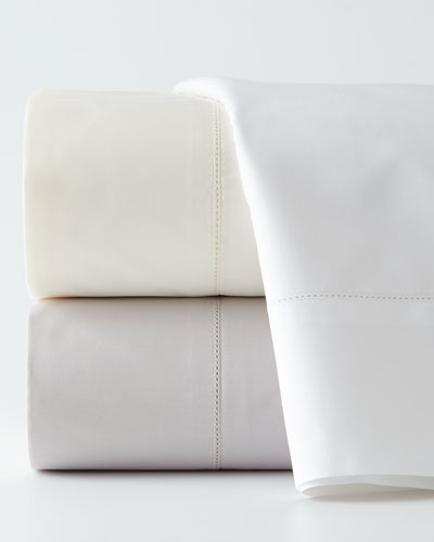 Two King N45 Classico Italian Giza Percale Pillowcases
