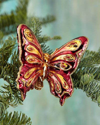 Butterfly Clip-On Christmas Ornament