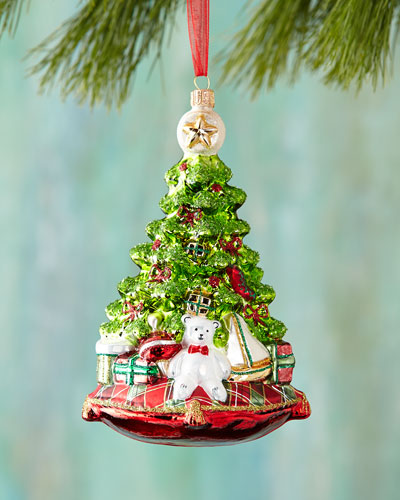 Christmas Tree with Bear Christmas Ornament