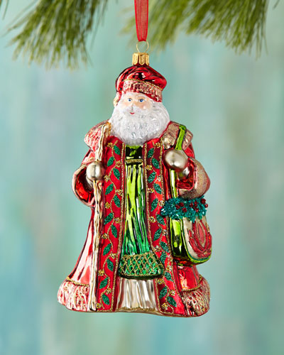 Santa Traveler Christmas Ornament