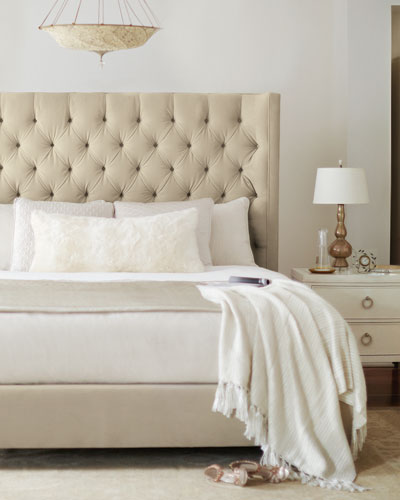 Tufted Headboard Bed | Neiman Marcus