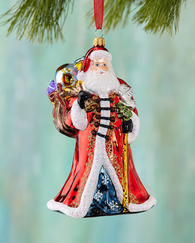 Santa with Dove Christmas Ornament