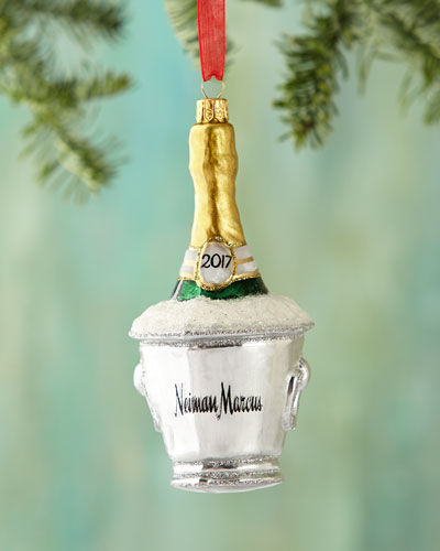 2017 Champagne Bucket Christmas Ornament