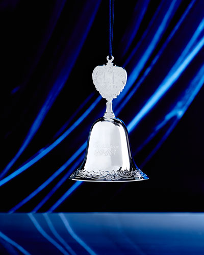 2016 Silver-Plated Baroque Bell Christmas Ornament