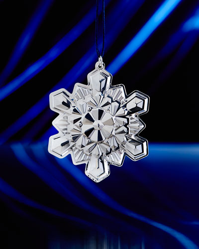 2016 Sterling Silver Snowflake Christmas Ornament