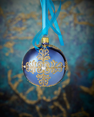 Blue Ball Christmas Ornament