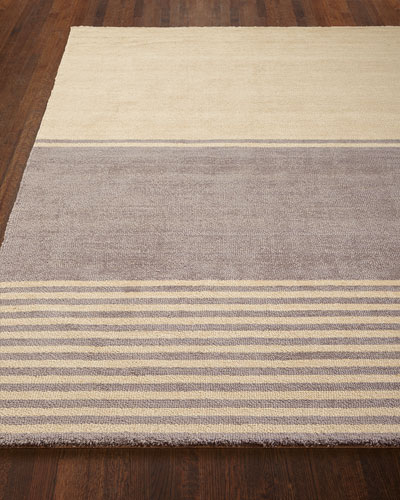 Gray Ribbon Rug, 4' x 6'