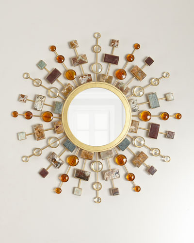 Gemstone Sunburst Mirror
