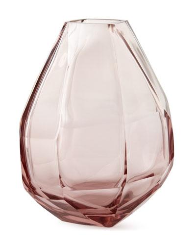 Clear Blush Vase