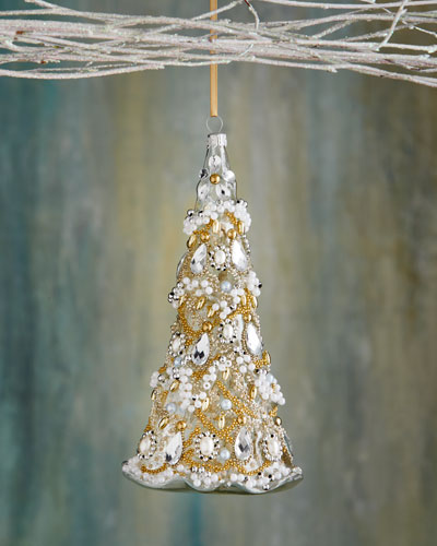 Christmas Tree with Tinsel Ornament