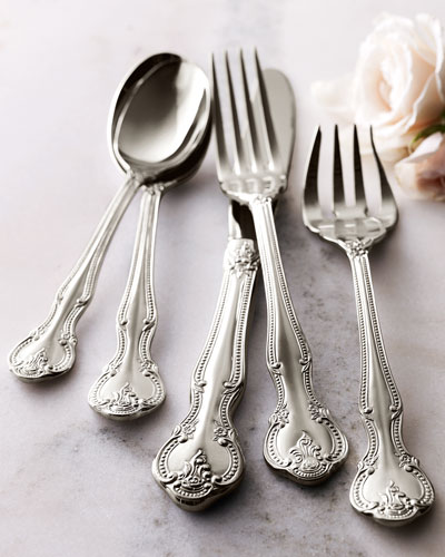 45-Piece Stainless Steel Baroque Flatware Service