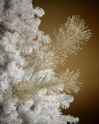 Glittered Pine Needles Spray