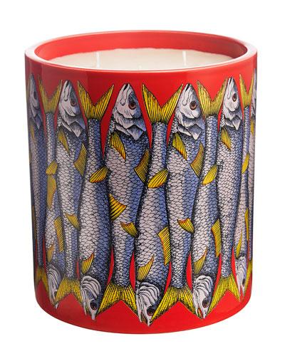 Fornasetti Sardine Rosso Gigantesco Scented Candle