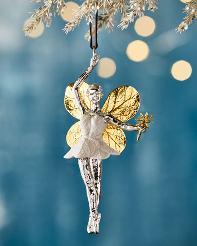 Quick Look. Michael Aram · Botanical Leaf Fairy Christmas Ornament.  Available in Silver - Silver Plated Christmas Ornament Neiman Marcus