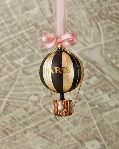 Paris Hot Air Balloon Christmas Ornament