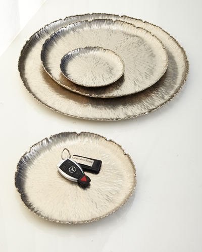 Textured Decorative Platters, 4-Piece Set