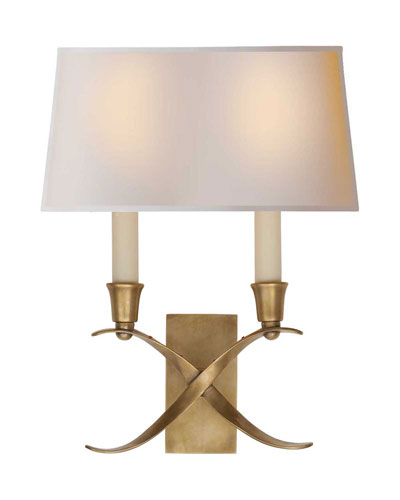 Cross Bouillotte Small Burnished-Brass Sconce