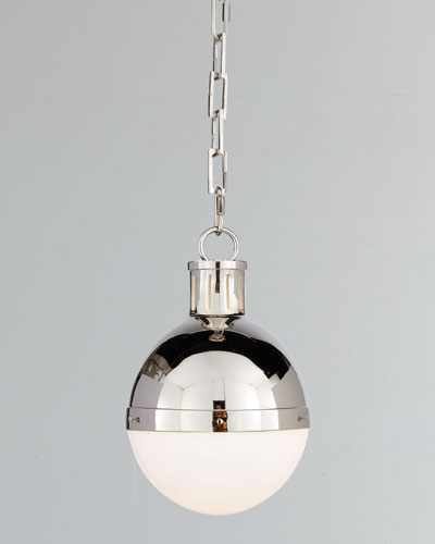 Hicks 1-Light Small Polished-Nickel Pendant