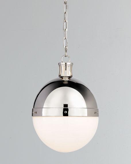 Thomas O'Brien Hicks 2-Light Large Polished-Nickel Pendant