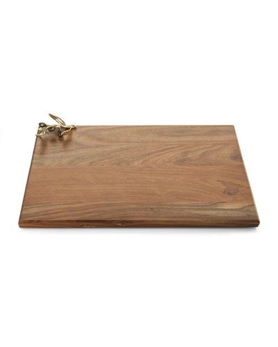 Olive Branch Gold Wood Serving Board