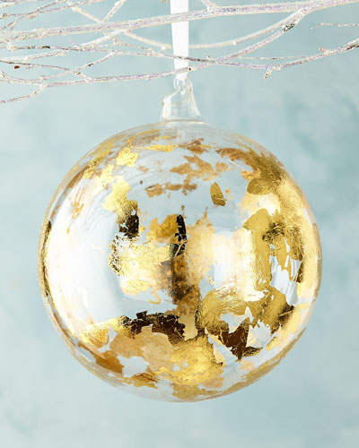 Gold-Foil Ball Christmas Ornament