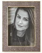 """Classic Chocolate Faux-Shagreen 5"""" x 7"""" Frame"""
