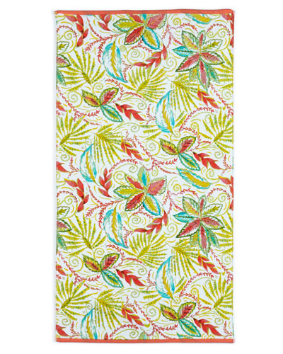Tropical Palm Fingertip Towel