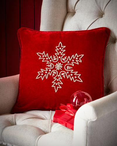 Crystal Snowflake Pillow