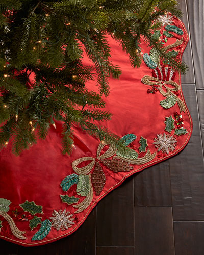 Frosted Pine Christmas Tree Skirt