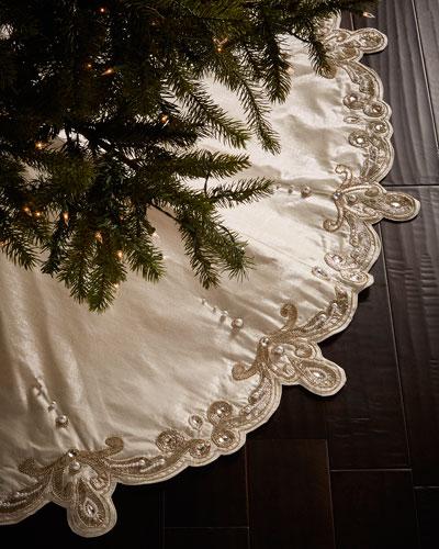 Arabesque Christmas Tree Skirt