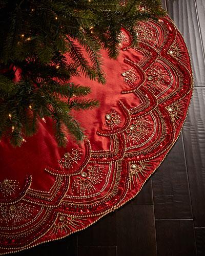 Scallop Christmas Tree Skirt